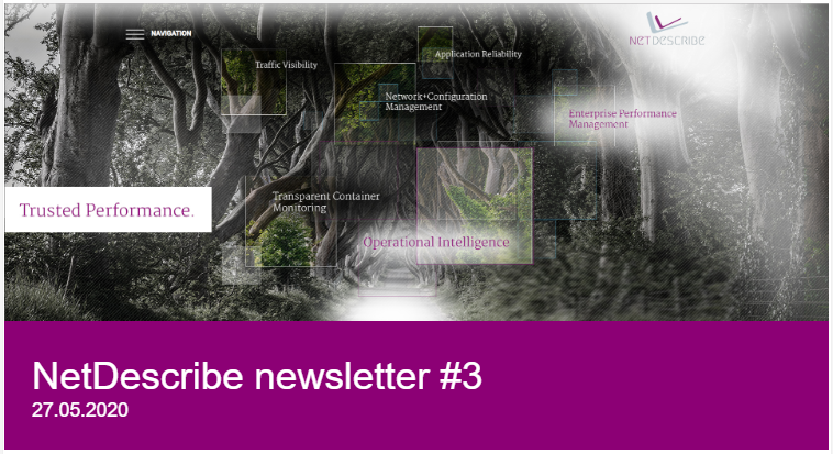 NetDescribe Newsletter May 2020 Titel